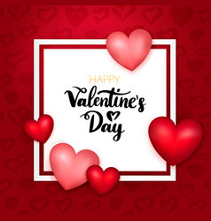 Happy valentines day paper card vector