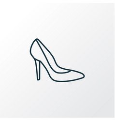 heels outline symbol premium quality isolated vector image vector image