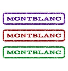 montblanc watermark stamp vector image