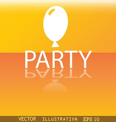 Party icon symbol flat modern web design with vector