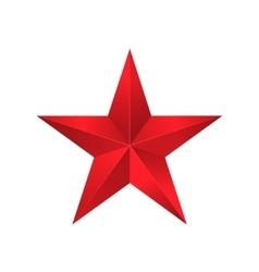 Red star sign vector image vector image