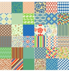 Set of seamless childish patterns vector image vector image