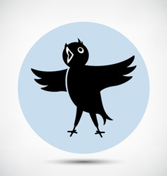 Singing bird vector