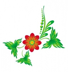 Ukrainian pattern vector image vector image