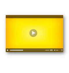 video player interface play bar design vector image vector image