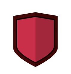 Shield emblem icon vector
