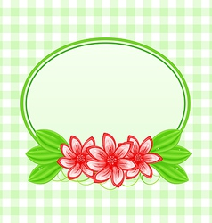 Summer card with flowers and leaves vector