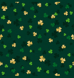 Green seamless background for patricks day with vector