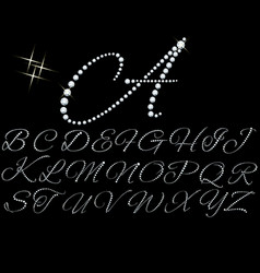 Diamonds alphabet vector