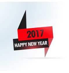 2017 simple design with red and black shapes vector