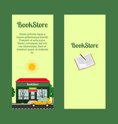 Bookstore vertical flyers vector