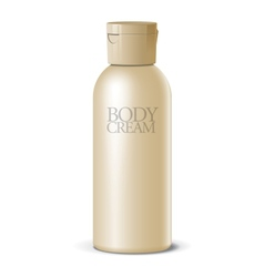 Cool Realistic blank bottle For cosmetics vector image