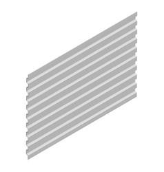 Sheet steel profile in isometric vector