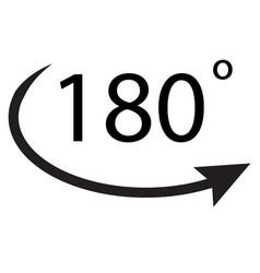 180 degrees icon on white background 180 degrees vector