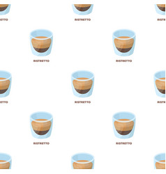 Ristretto glassdifferent types of coffee single vector