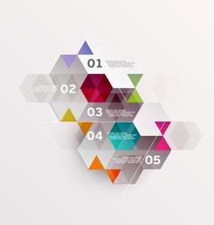 Modern design infographics vector image