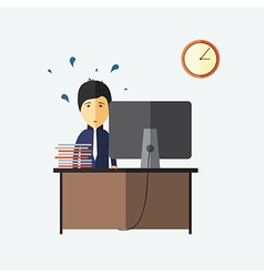 Stress at work deadline vector