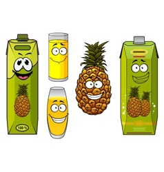 Pineapple fruit and juices vector
