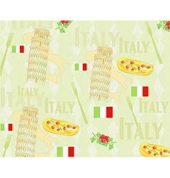 Italy travel seamless pattern with national vector