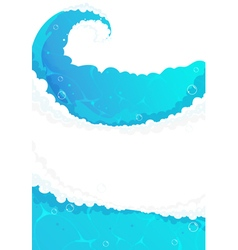 Blue water frame vector