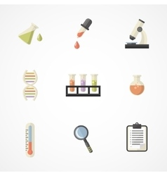 Science and research icons part iii vector