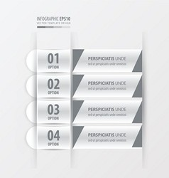 Banner and label design white color vector