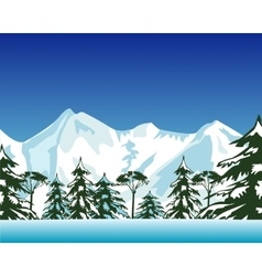 High snow mountains vector