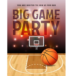 Basketball big game party flyer vector