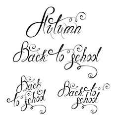 Back to school calligraphy 380 vector