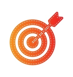 Target with dart orange applique isolated vector