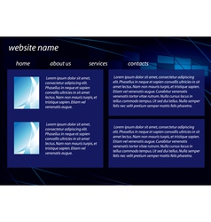 Template of dark business website vector