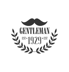Gentleman club label design with moustache vector