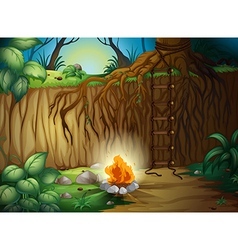 A camp fire vector image vector image