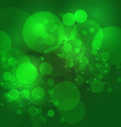 Abstract bokeh blur background green color vector