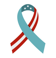 American ribbon icon isolated vector
