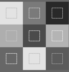 arrow on a square shape grayscale version vector image vector image