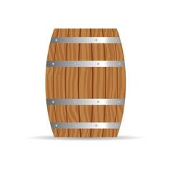 Barrel icon in brown vector