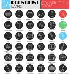 Building and construction tools circle vector