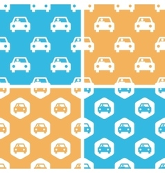 Car pattern set colored vector