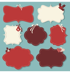 christmas vintage labels vector image