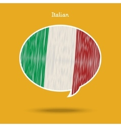 Concept of travel or studying italian vector