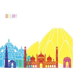 delhy skyline pop vector image