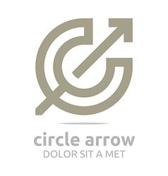 design letter c arrow brown icon symbol vector image vector image