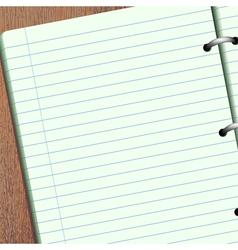empty scrapbook vector image vector image