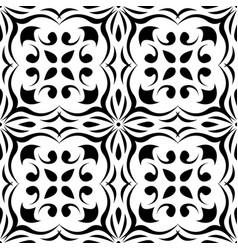 floral black and white seamless pattern vector image vector image