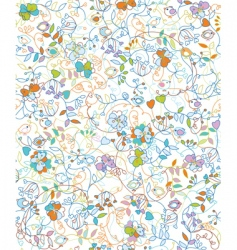 floral doodles pattern vector image vector image