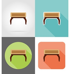 Furniture flat icons 12 vector