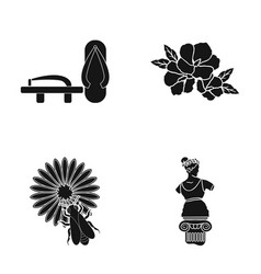 History museum china and other web icon in black vector