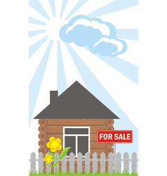 House Sale Sign vector image vector image