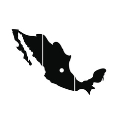 Map of mexico icon simple style vector